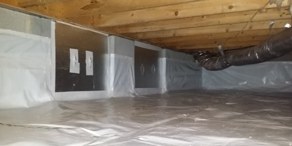 Dry Otter Waterproofing | Crawl Space Encapsulation | Crawl Space Doors | Vapor Barriers